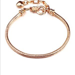 Jewelry - Gold plated snake chain fits charm beads bracelet
